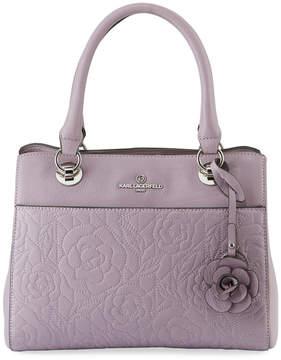 Karl Lagerfeld Paris Marina Rose Pebble Leather Satchel Bag