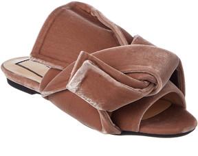 N°21 N21 Velvet Flat Bow Mule