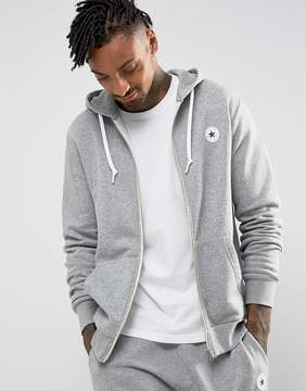 Converse Chuck Patch Zip Hoodie In Gray 10004627-A03