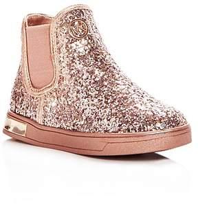 MICHAEL Michael Kors Girls' Ollie Rae Glitter High Top Sneakers - Walker, Toddler