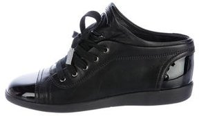 Chanel Leather CC Sneakers