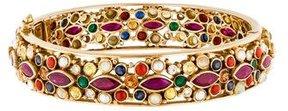 Amrapali 18K Pearl, Ruby, Diamond & Multistone Bangle Bracelet