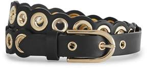 Reiss Della Eyelet-Detail Leather Belt