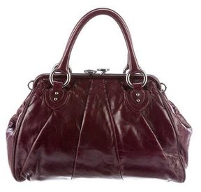 Marc Jacobs Leather Stam Satchel - BURGUNDY - STYLE