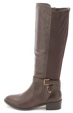 Rampage Womens Ilite Almond Toe Knee High Fashion Boots.