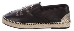 Zadig & Voltaire Embellished Leather Espadrilles