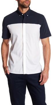 Perry Ellis Colorblock Combo Short Sleeve Regular Fit Shirt