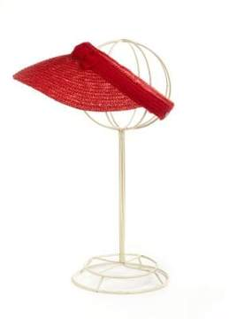 Betmar Straw Visor With Bow Accent