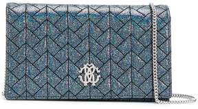 Roberto Cavalli logo quilted shoulder bag