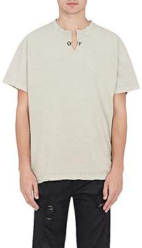 Off-White Men's Distressed Cotton T-Shirt
