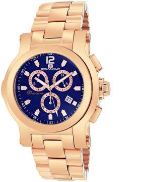 Oceanaut Baccara Mens Blue Dial Rose-Tone Stainless Steel Bracelet Watch