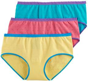 Hanes Girls 7-16 3-pk. Multi-Colored Hipster Panties