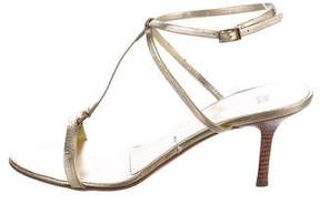 Vera Wang Metallic Leather Sandals