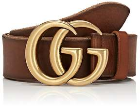 Gucci Men's GG Buckle Leather Belt