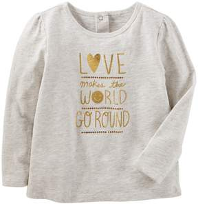 Osh Kosh Oshkosh Bgosh Toddler Girl Love Makes The World Go Round Graphic Tee