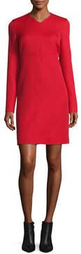 Courreges Long-Sleeve Diamond-Stitched Dress