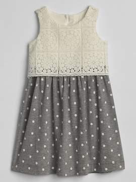 Gap Crochet Mix-Fabric Dress