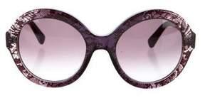 Valentino Oversize Round Sunglasses