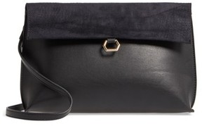 Street Level Streel Level Textured Flap Faux Leather Crossbody Bag - Black