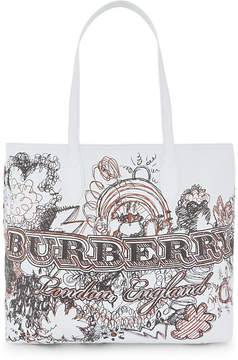 Burberry Sketchbook leather tote - WHITE - STYLE