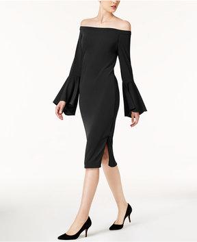 ECI Off-The-Shoulder Shift Dress