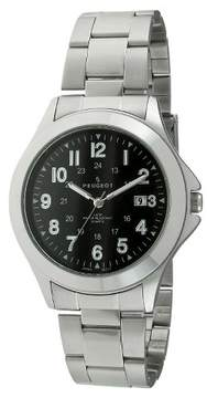 Peugeot Watches Men's Round Easy Read Sport Metal Bracelet Watch - Silver