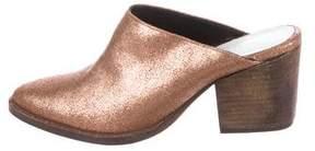 Freda Salvador Metallic Leather Mules