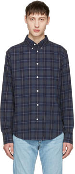 Rag & Bone Navy Checked Tomlin Shirt