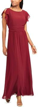 Chaps Women's Georgette Overlay Gown