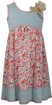 Bonnie Jean Girls 7-16 Knit Printed Challis Babydoll Dress