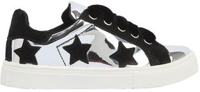 MonnaLisa Metallic Leather Sneakers W/ Stars