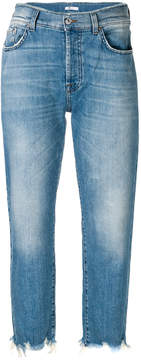7 For All Mankind cropped five-pocket jeans