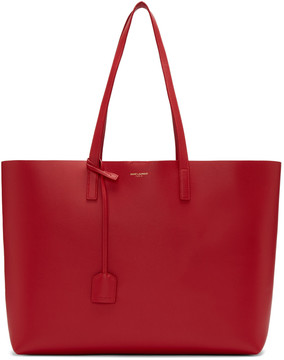 Saint Laurent Red Large Shopping Tote Bag