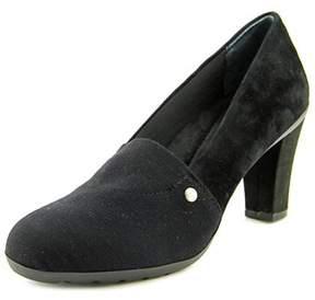 Giani Bernini Daliss Women Round Toe Suede Black Heels.