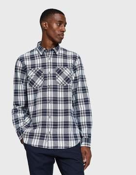 Carhartt Wip L/S Franklin Shirt in Snow/Blue