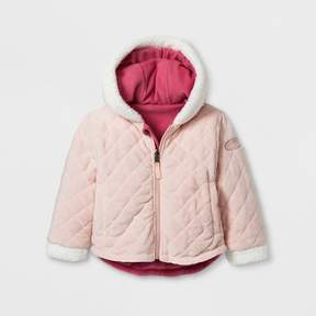 Stevies Toddler Girls' Quilted Jacket - Rose