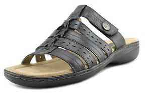 Earth Origins Kaitlyn Open Toe Leather Slides Sandal.