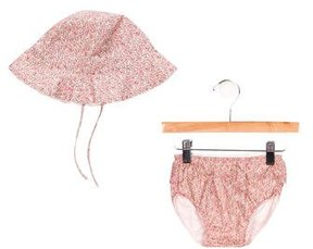Chloé Girls' Hat & Bloomer Set w/ Tags