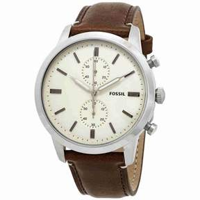 Fossil Townsman Chronograph Cream Dial Men's Watch FS5350