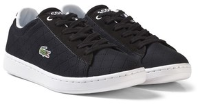Lacoste Black Kids Perforated Carnaby 317 Trainers