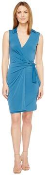 Christin Michaels Gracy Sleeveless Wrap Dress with Collar Women's Dress