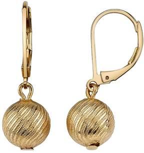 1928 Textured Ball Drop Earrings