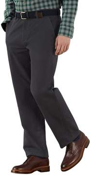 Charles Tyrwhitt Grey Classic Fit Flat Front Weekend Cotton Chino Pants Size W32 L32