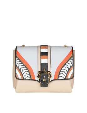 Paula Cademartori Alice Shoulder Bag In Multicolor Leather