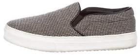 Celine Tweed Slip-On Sneakers