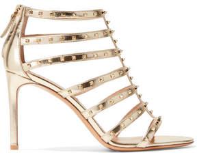 Valentino Garavani Lovestud Metallic Leather Sandals - Gold