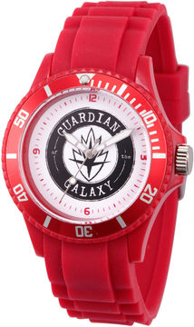 Marvel Guardian Of The Galaxy Mens Red Strap Watch-Wma000108
