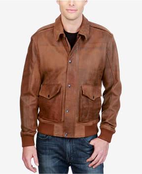 Lucky Brand Men's Leather Bomber Jacket