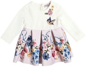 MonnaLisa Milano Jersey & Neoprene Dress