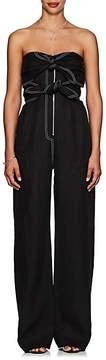 Derek Lam Women's Tie-Front Linen Wide-Leg Jumpsuit
